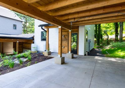 Greenbuild patio carport and rain garden in State College, PA
