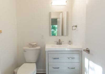 Greenbuild Energy Efficient Duplex bathroom design in State College, PA