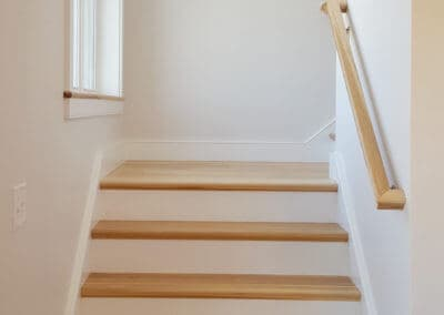 Custom wood staircase home renovation State College, PA