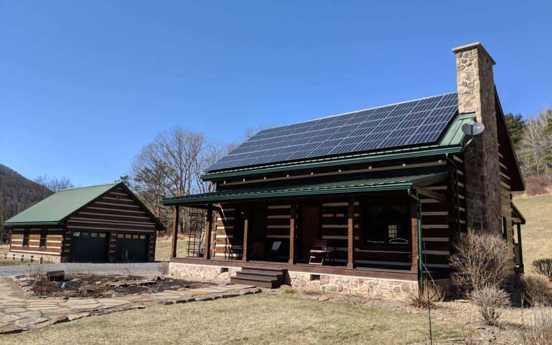 Rooftop residential solar array cabin