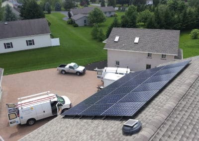 Residential solar panels home solar system roof mounted solar system in State College, PA