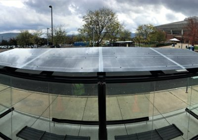 Top of Penn State University CATA Bus stop solar panel