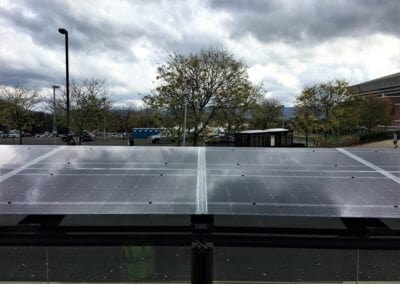 Solar Array on roof of Penn State University Bus stop