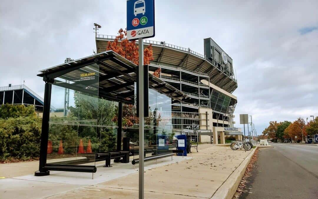 PSU Beaver Stadium Solar Panel Bus Stop